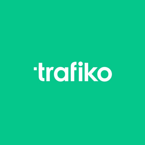Green logo with the title 'trafiko'