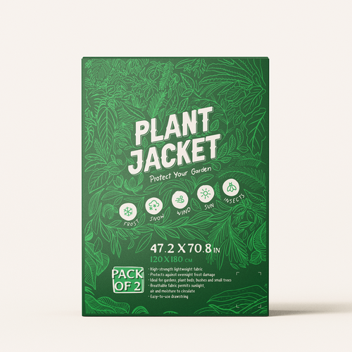 Creative packaging with the title 'Design concept For Plant Jacket'