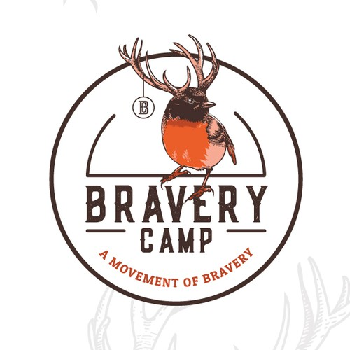 Out-of-the-box design with the title 'Logo for Bravery Camp'