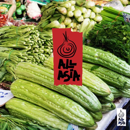 Culinary logo with the title 'asian vegetable market'