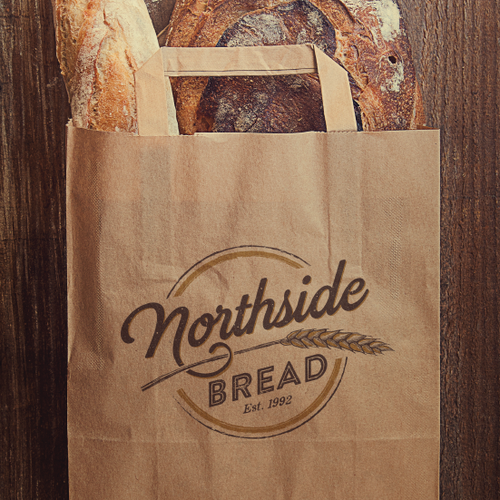 Bakeshop design with the title 'can you create a rustic logo for my bakery specializing in crusty, artisan bread?'