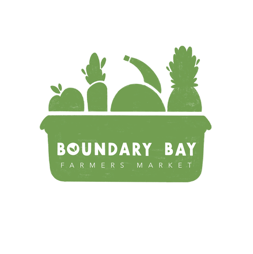Farmers' market logo with the title 'Boundary Bay Farmers Market Logo'