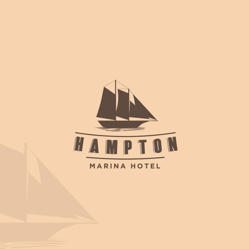Nostalgic logo with the title 'vintage concepts for Hampton Marina Hotel'