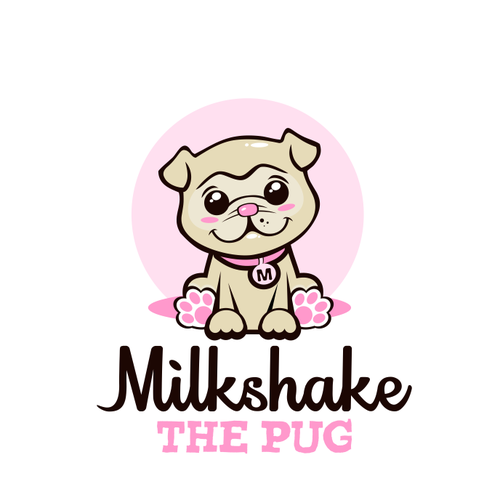Pug design with the title 'Logo for a blog'