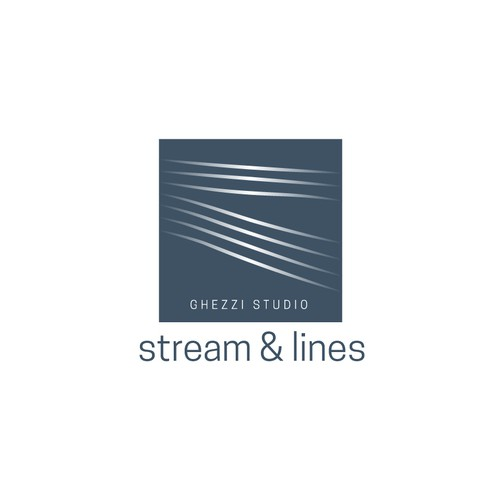 Stream design with the title 'Stream & lines / Ghezzi Studio'
