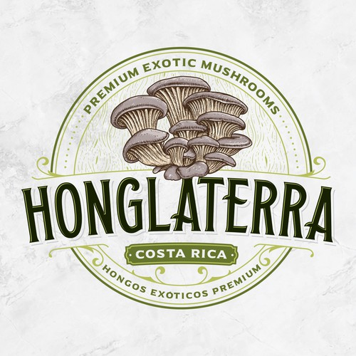Mushroom logo with the title 'Honglaterra'