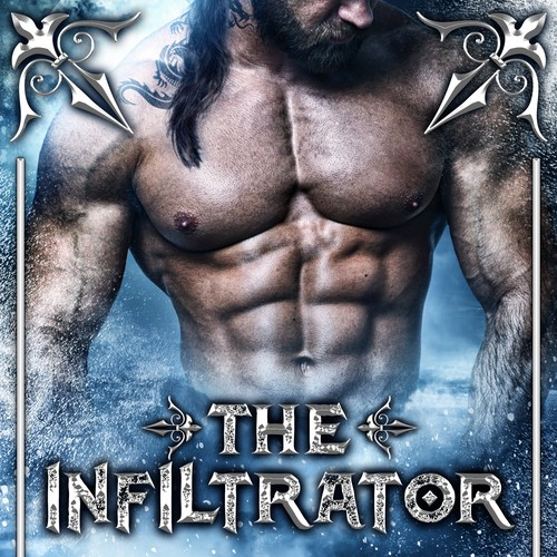 Zombie design with the title 'Book cover design - The Infiltrator by K. A. Raines'