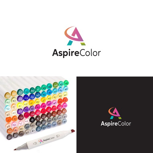 Marker design with the title 'Aspire Color'