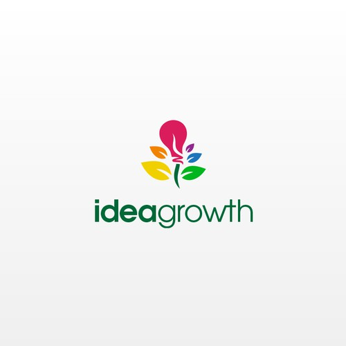 Growth brand with the title 'Create brand identity for Idea Growth'