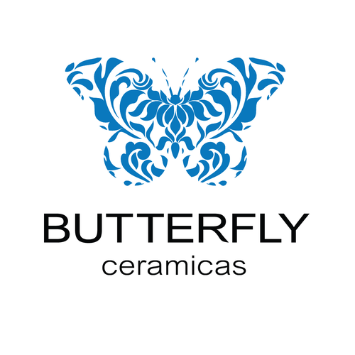 Pottery logo with the title 'Butterfly Ceramicas'
