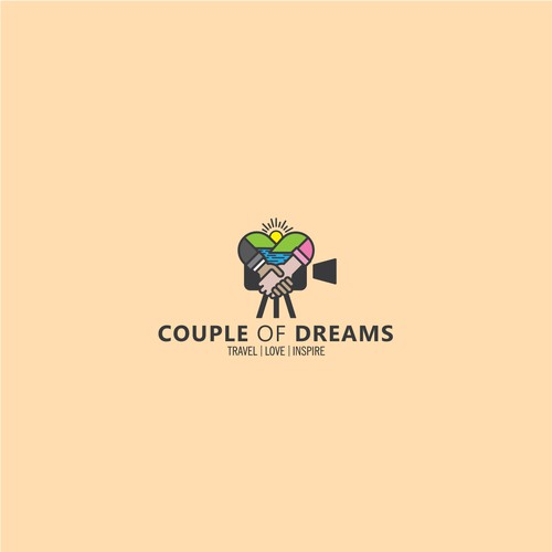 Vlog logo with the title 'couple of dream'