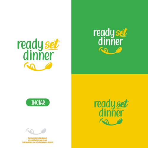 Stationery logo with the title ' Logo concept for ready set dinner'