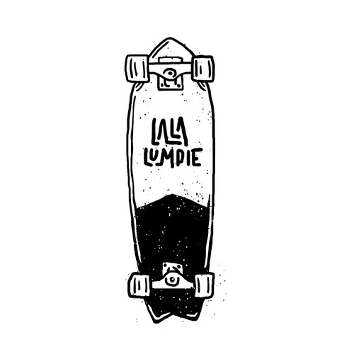 Manual design with the title 'RAW LINE STYLE ILLUSTRATION SKATEBOARD for Kids Brand.'