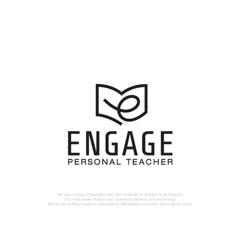 Literature design with the title 'Engage Logo'