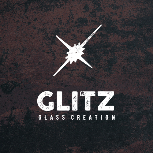 Glitch design with the title 'Glitz Glass Creation'