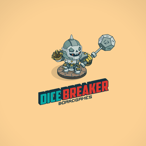 Game controller logo with the title 'Board Gaming Website Dicebreaker.com Needs a Logo!'