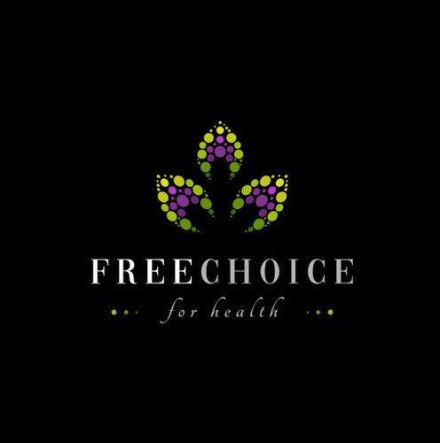Healthy brand with the title 'Free choice for health Logo'