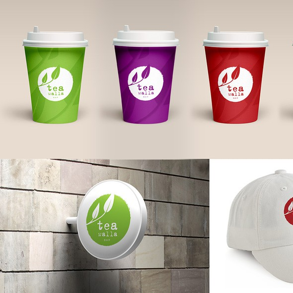 Tea cup logo with the title 'Create an iconic logo for a Tea Bar serving Modern Teas and Infusions'