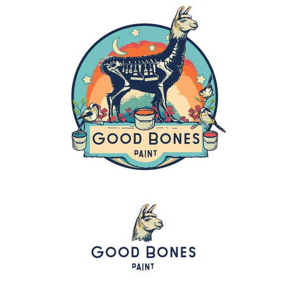 Rainbow brand with the title 'GoodBones Paint'