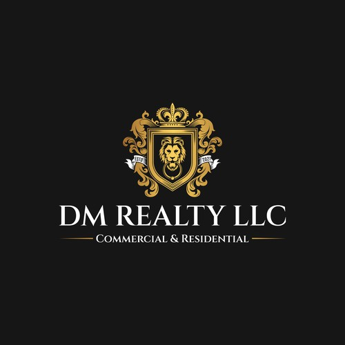 Geometric lion logo with the title 'Luxury DM Realty LLC Logo'