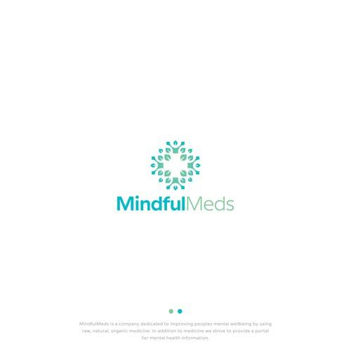 Hospital logo with the title 'Mindful Meds Logo'