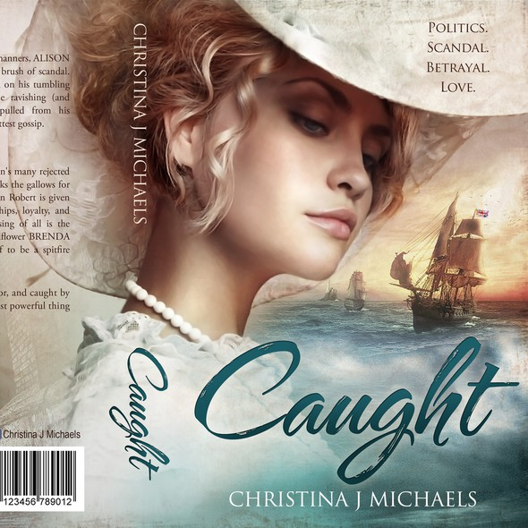 Historical fiction book cover with the title 'Caught - Historical Novel'