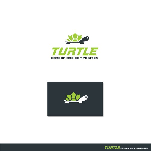Motorbike logo with the title 'Logo for Turtle Carbon & Composites'