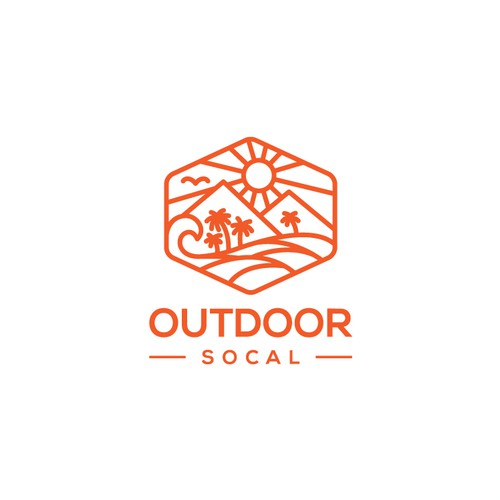 Scenery logo with the title 'logo for OUTDOOR SOCAL'