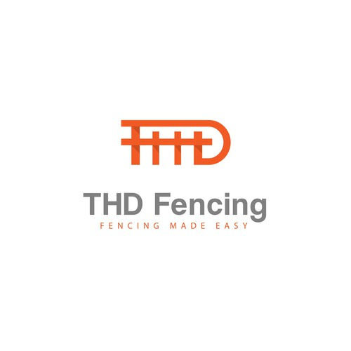 Fencing logo with the title 'THD fence'