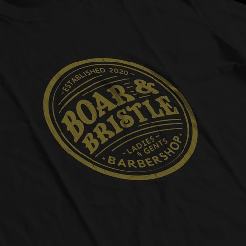 Retro design with the title 'BARBERSHOP LOGO DESIGN CONCEPT'