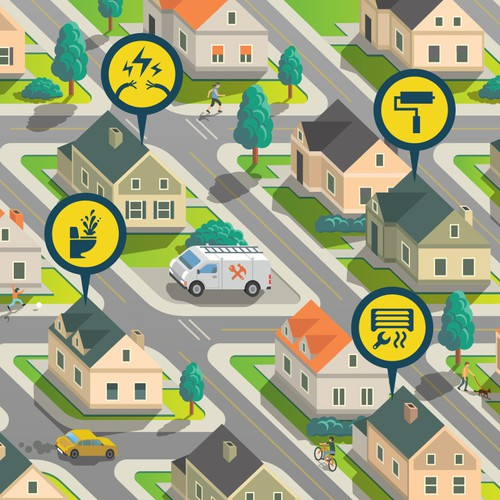 Vector design with the title 'Map/Street Illustration'