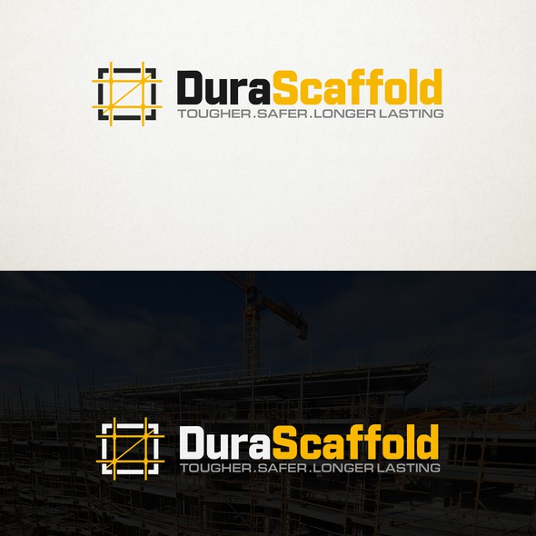 Scaffolding logo with the title 'Construction Logo'