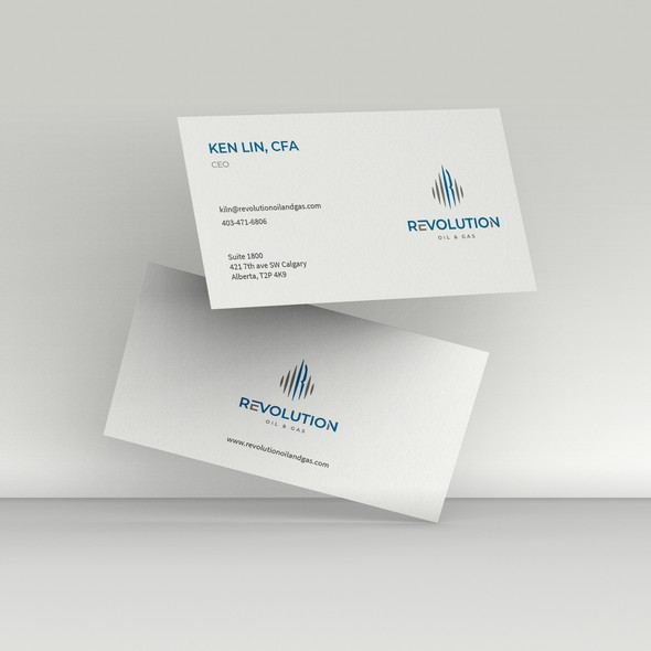 Fuel design with the title 'Simple Business Card designs'