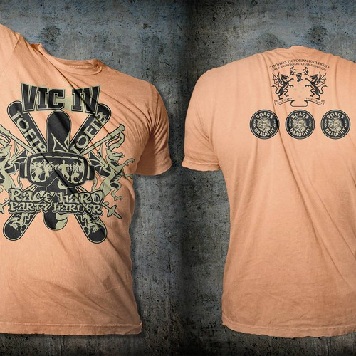 Racing t-shirt with the title '2012 Vic IV T-Shirt'