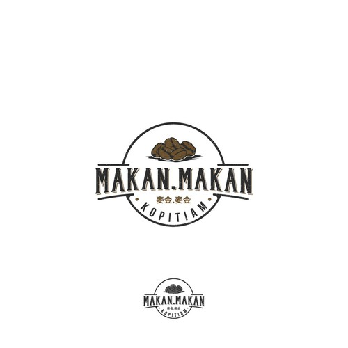 Authentic logo with the title 'Makan.Makan Kopitiam'