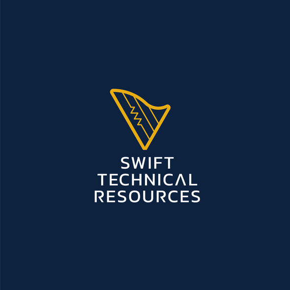 Harp logo with the title 'Swift Technical Resources Logo'