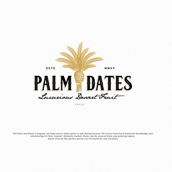 Fig logo with the title 'LOGO PALM DATES'