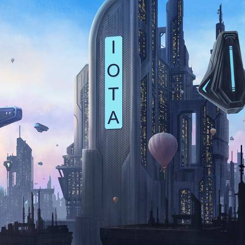 Futuristic illustration with the title 'Futuristic scenes Illustration'