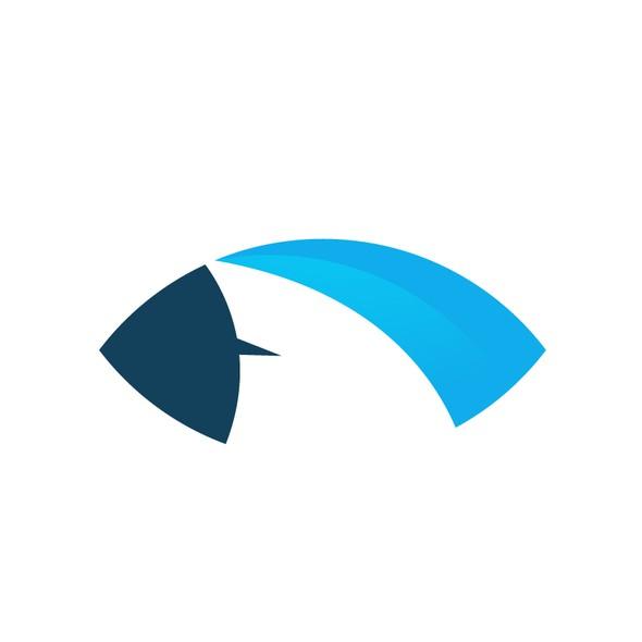 Fin design with the title 'SharkVeillance Logo Design'