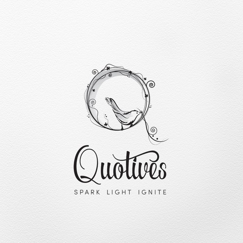 Circle brand with the title 'Romantic logo for candle company'