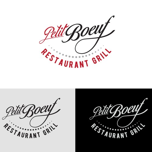Hand-lettered logo with the title 'Hand lettering logo for a restaurant grill'