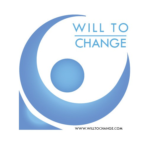 "Gestalt logo with the title 'Logo design for the project ""Will to change""'"