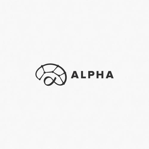 Neurologist logo with the title 'Alpha'