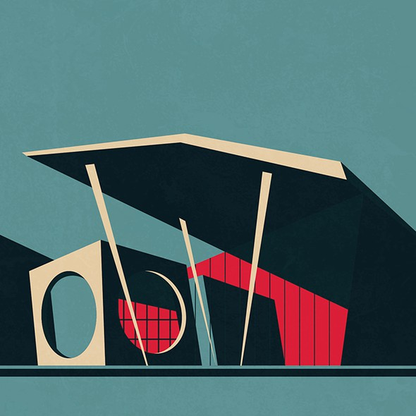 Minimal illustration with the title '99designs Community Contes '
