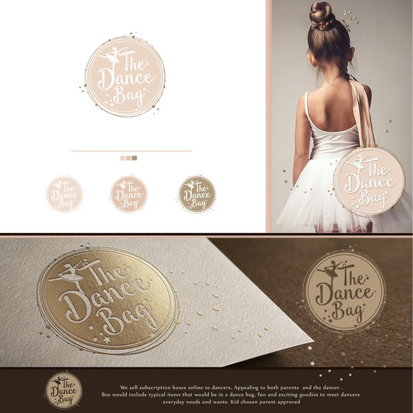 Ballerina logo with the title 'dreaming and catching the stars!'