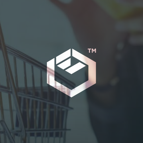 E logo with the title 'Logo concept for an online shopping platform'