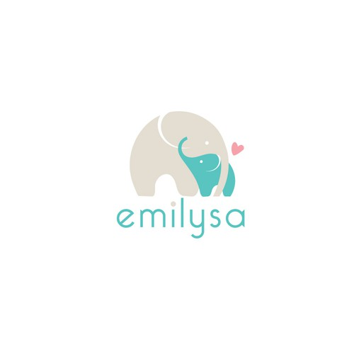 Baby store logo with the title 'Cute and bold logo for baby textile products.'