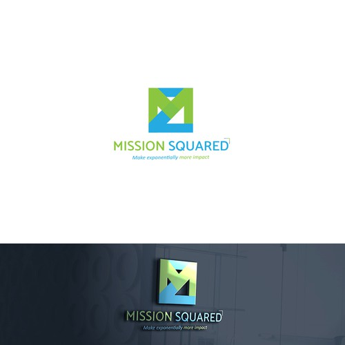 Shape brand with the title 'Simple logo concept for Mission Squared'