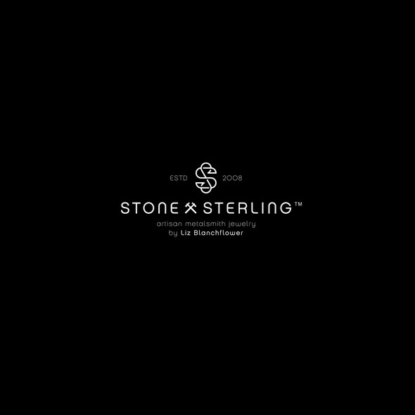 Hammer design with the title 'Stone and Sterling monogram logo'