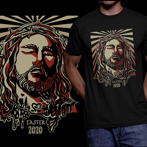 Easter design with the title 'Jesus - Light, Love, Life'